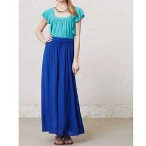 Anthropologie Maeve Royal Blue Maxi Skirt Small